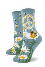 Socks Give Bees A Chance Blue