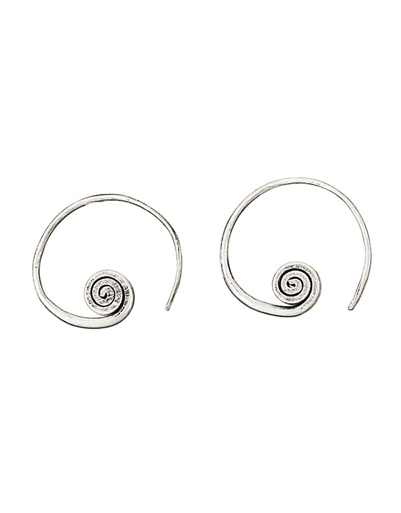 Swirl Threader Hoop Earrings