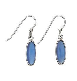 Oblong Chalcedony Earring