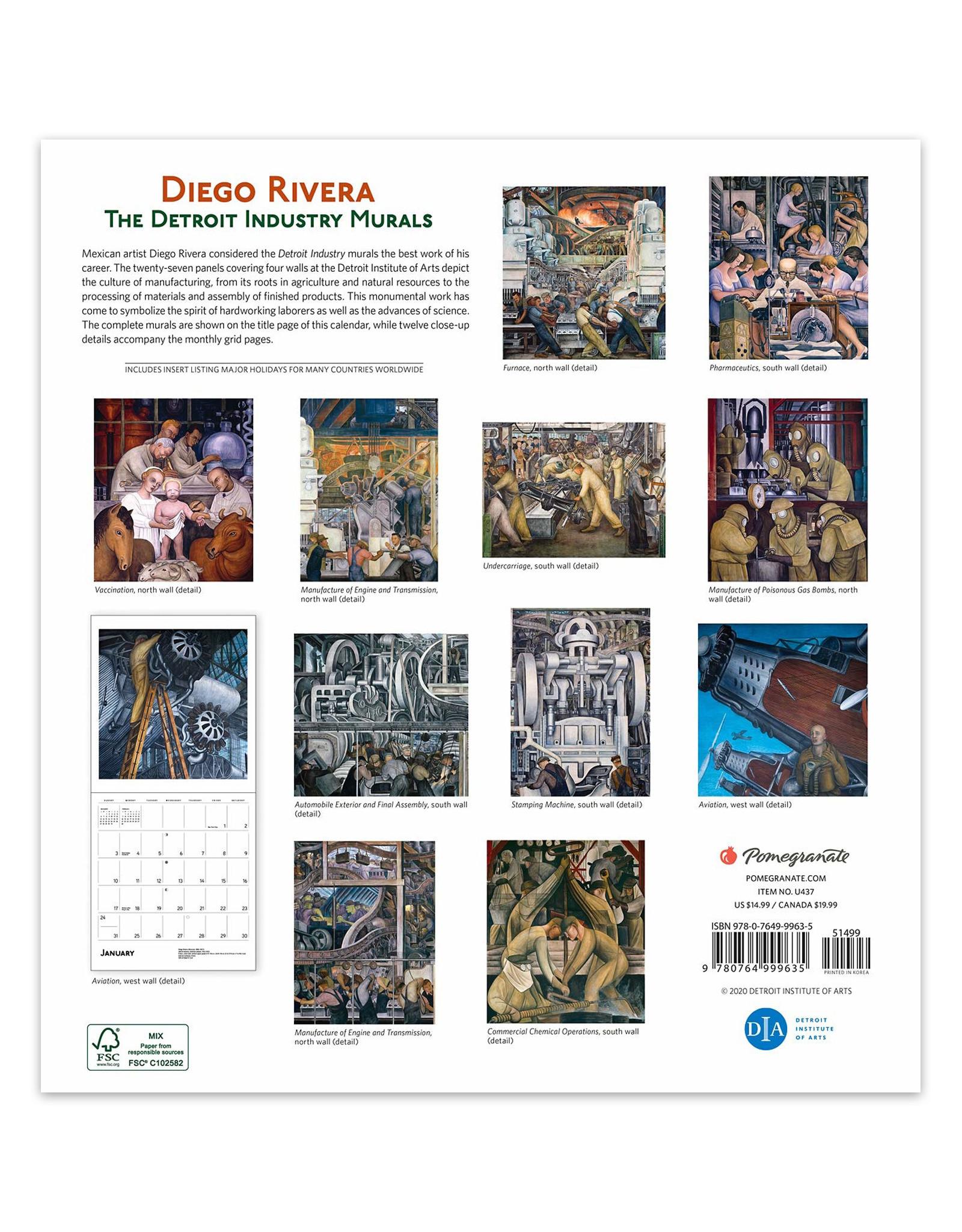 Diego Rivera: The Detroit Industry Murals 2021 Calendar