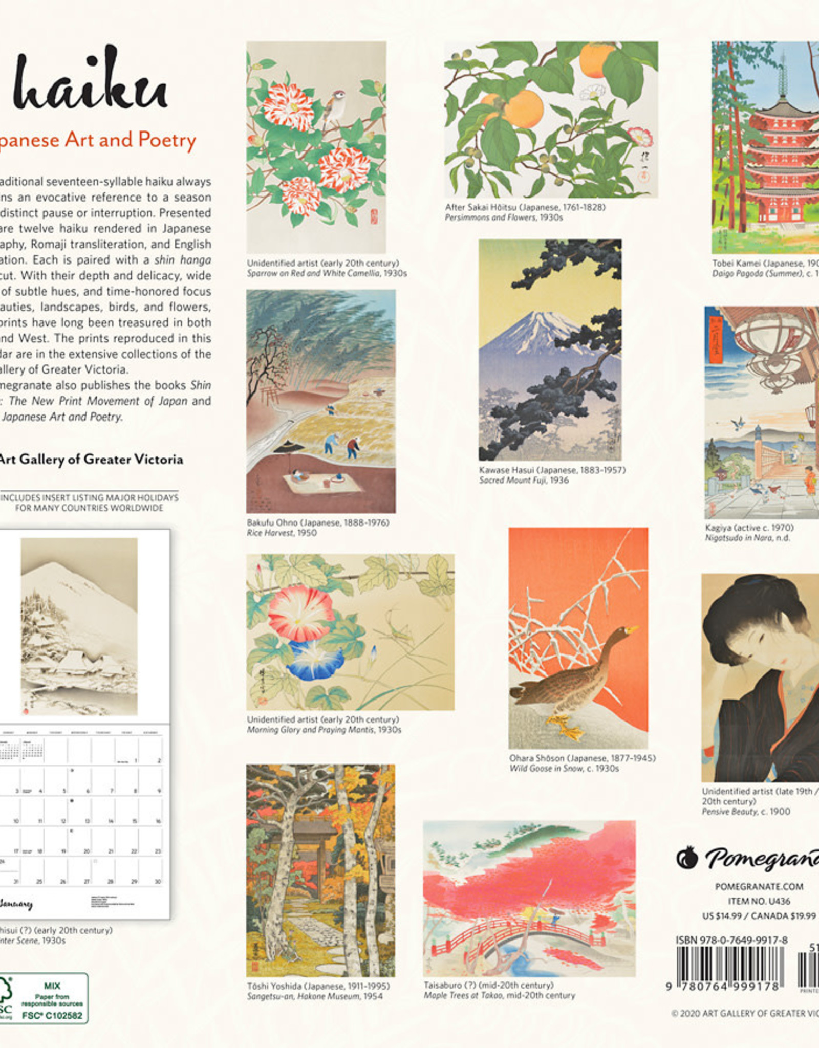 2021 Calendar Haiku: Japanese Art And Poetry