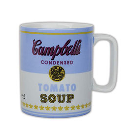 Blue Andy Warhol Tomato Soup Mug