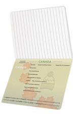 Canada Passport Notebook