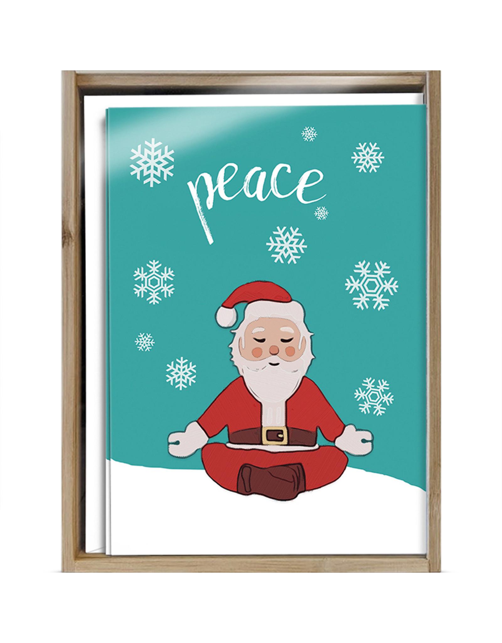 Peace Santa Boxed Cards