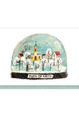 Cards Village Snowglobe