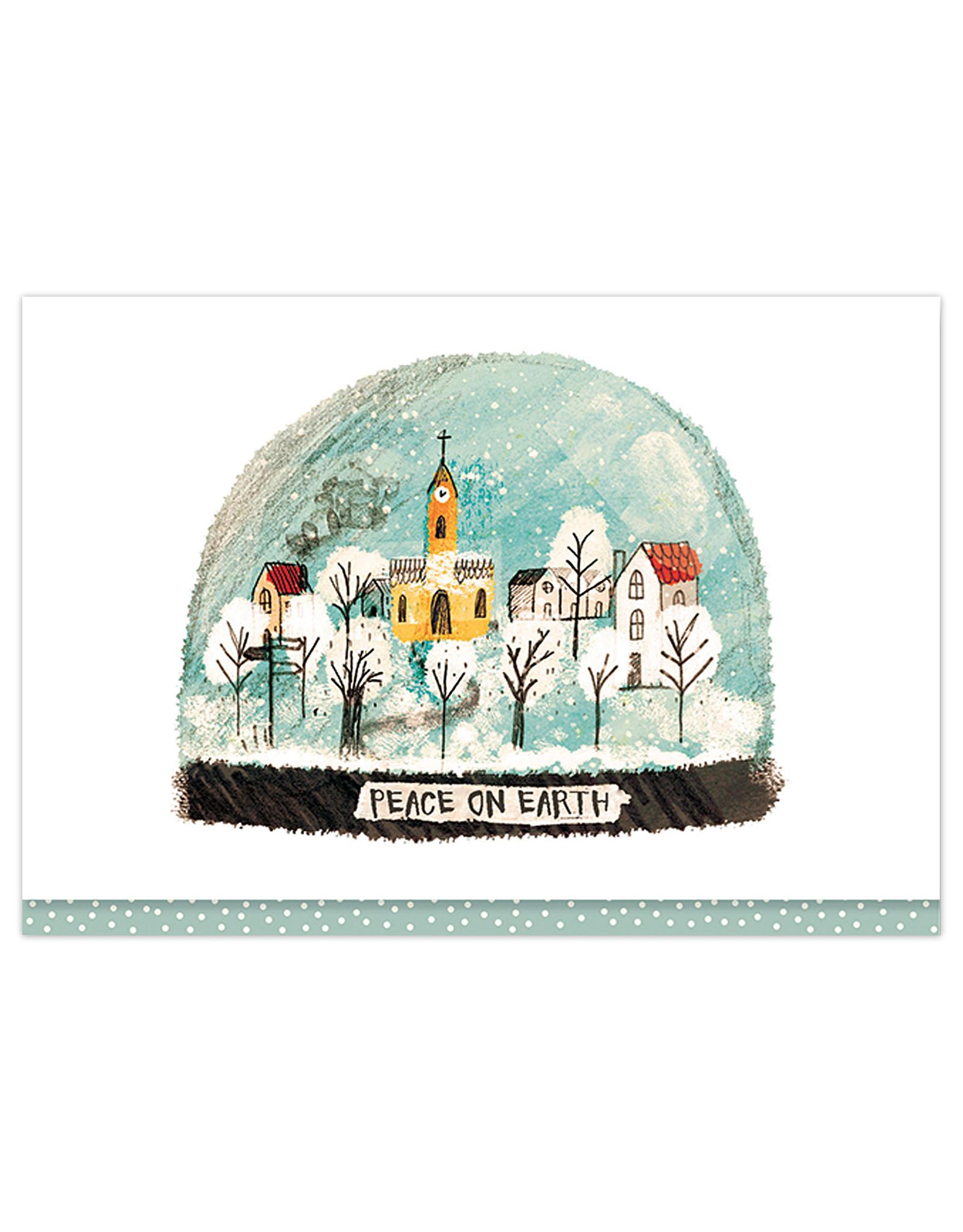 Village Snow Globe Boxed Cards