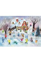 Advent Calendar Children Snow