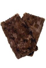 Fingerless Faux Fur Gloves in Rosebud Brown