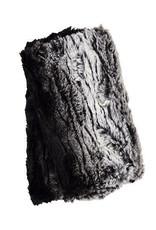 Fingerless Faux Fur Gloves in Black Sequoia