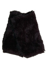 Fingerless Faux Fur Gloves in Black Sequoia