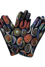 Gloves With Colorful Yarn Circles