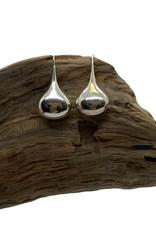 Gourd on Wire Sterling Silver Earrings