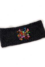 Charcoal Wool Headband with Star