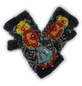 Hand Warmers with Beaded Roses