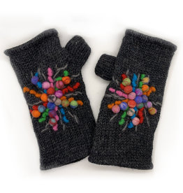 Charcoal Wool Hand Warmers with Star Detail