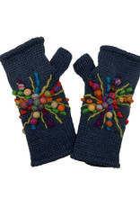 Teal Wool Hand Warmers with Star Design