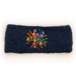 Teal Wool Headband with Star