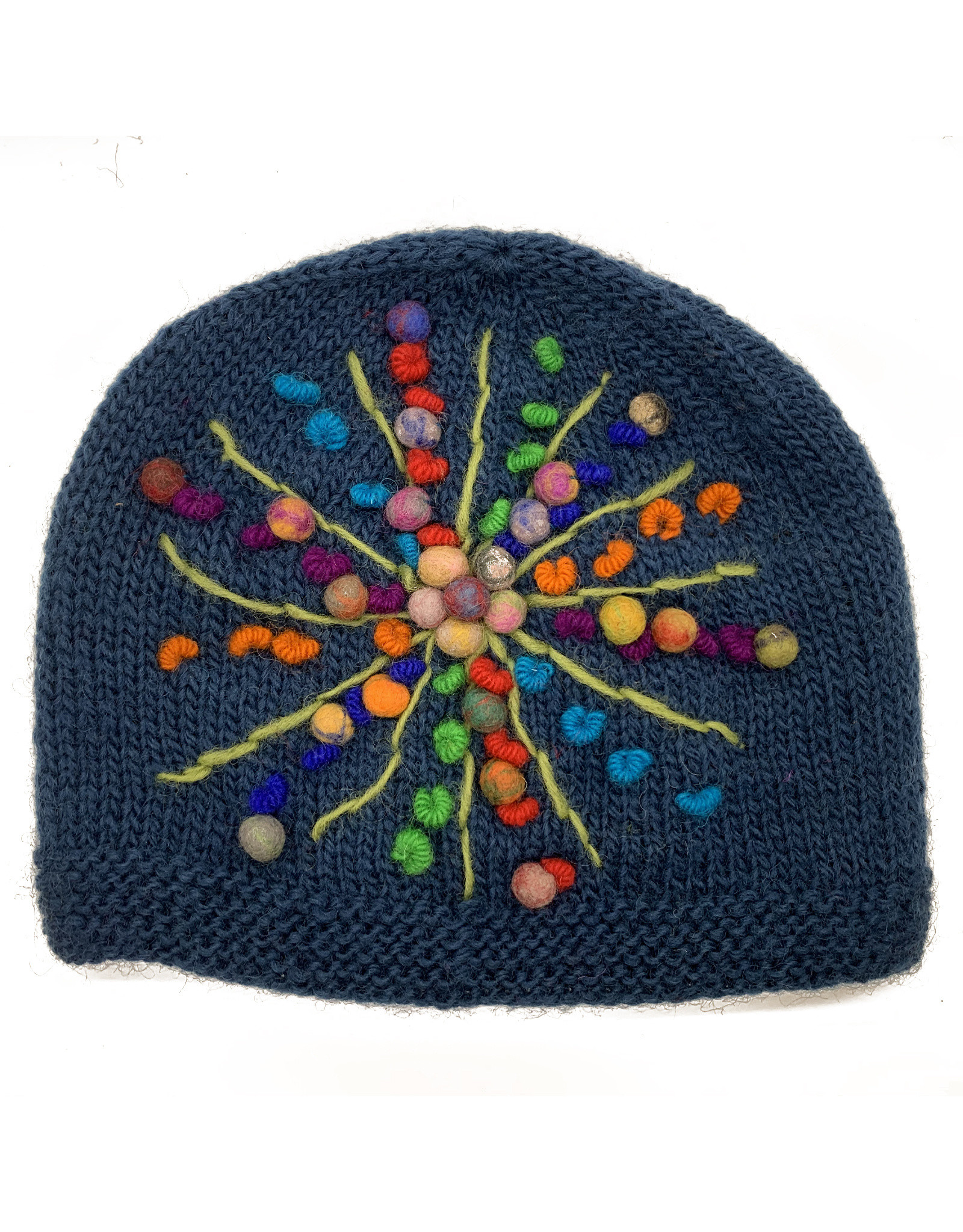 Teal Wool Beanie with Star