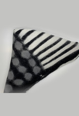 Black and White Felt Scarf