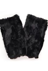 Fingerless Faux Fur Gloves in Smokey
