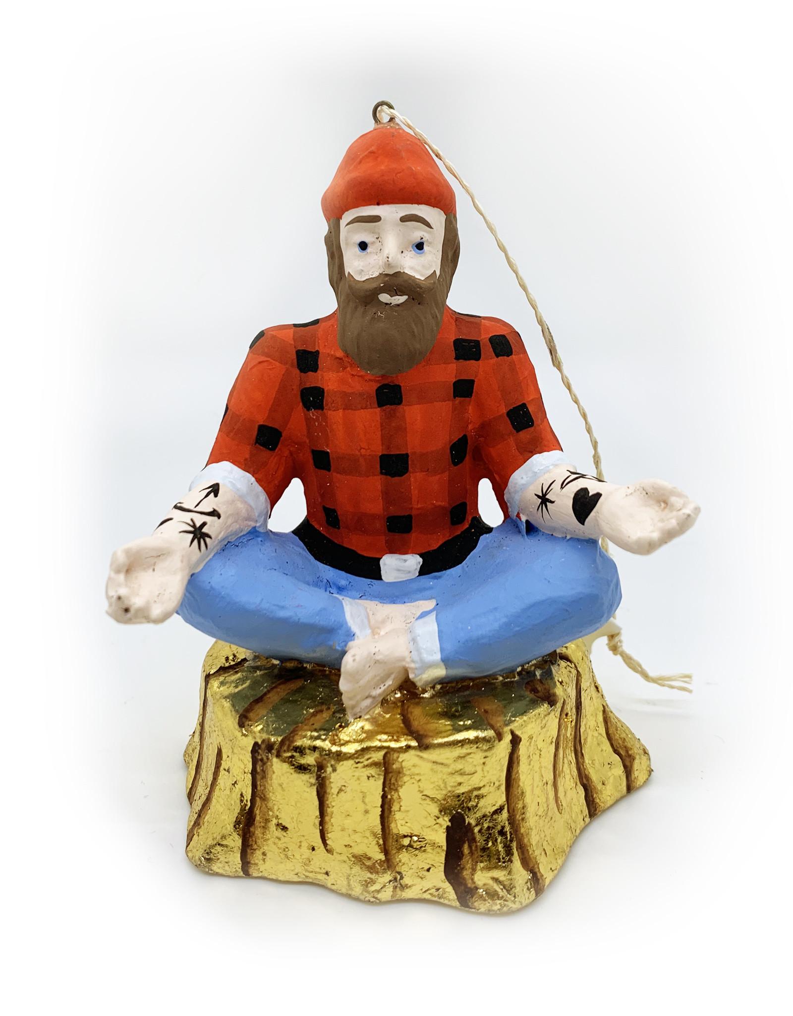 Meditating Lumberjack Ornament