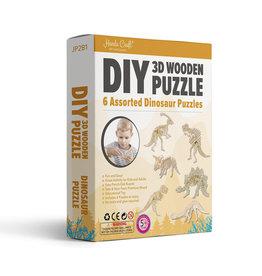 3D Wooden Puzzle: Dinosaurs