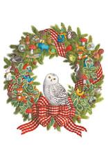 Advent Calendar Snowy Owl Wreath