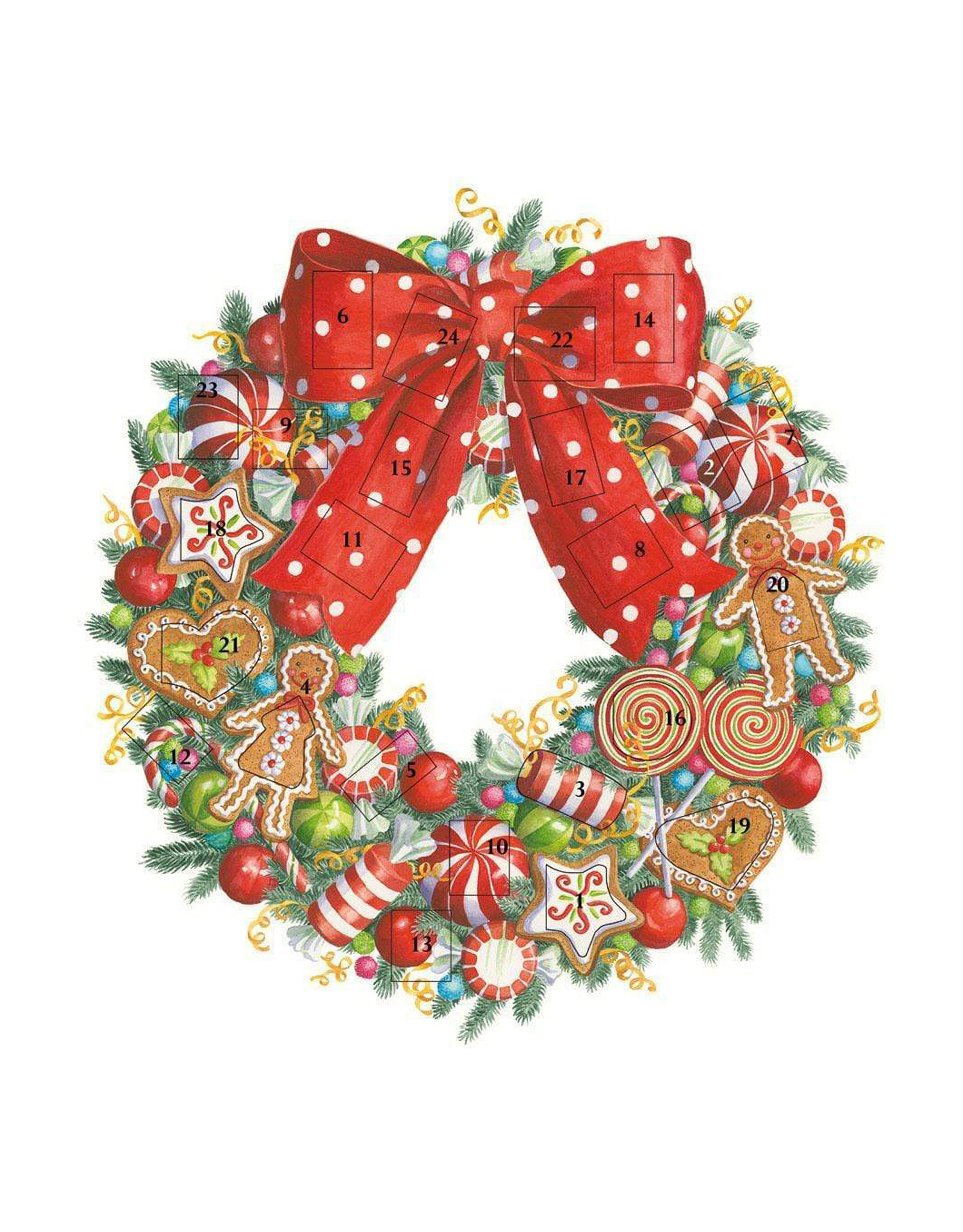 Advent Calendar Candy Wreath