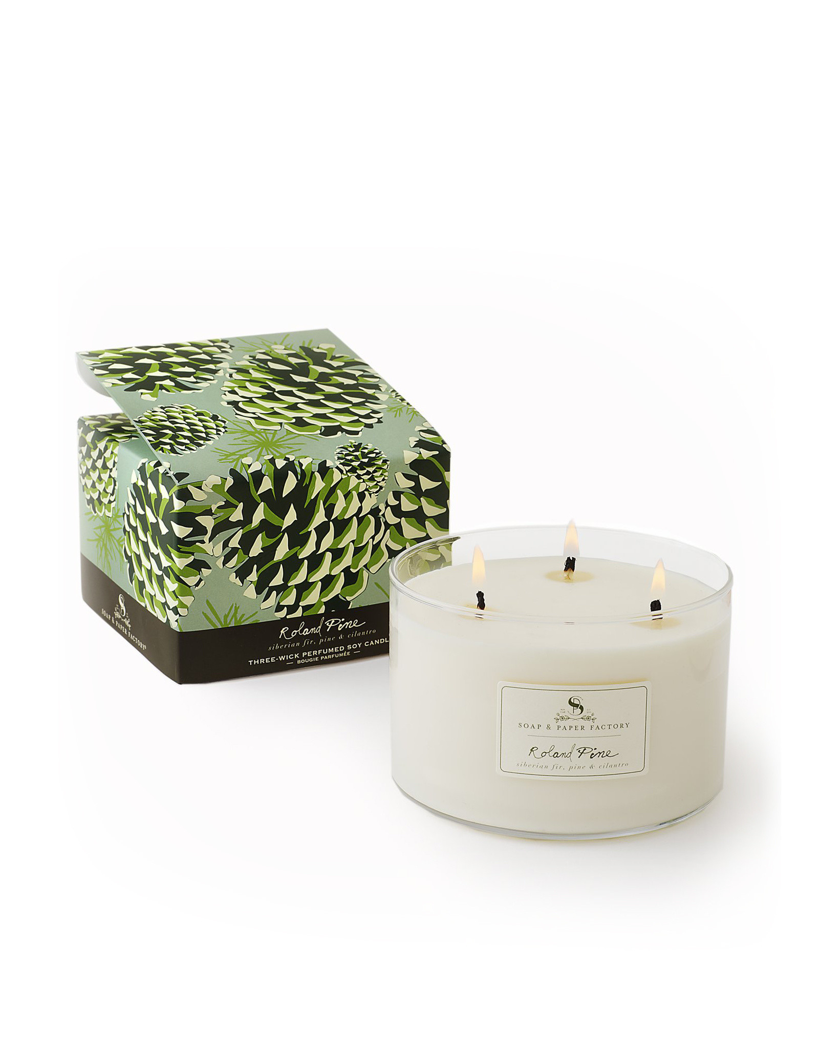 Roland Pine Three Wick Soy Candle