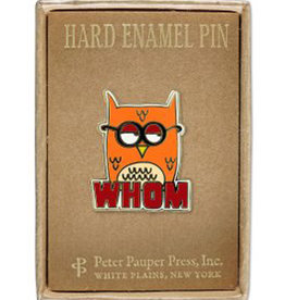 Enamel Pin Whom Owl