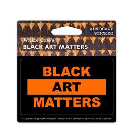 Sticker Willie Cole Black Art Matters