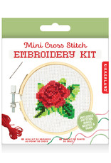 Mini Cross Stitch Embroidery Kit Rose