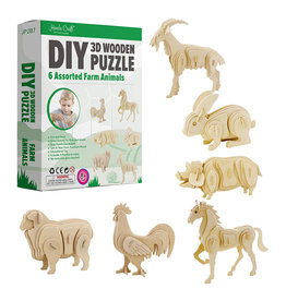 3D Wooden Puzzle: Farm Animals
