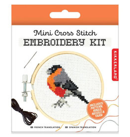 Mini Cross Stitch Embroidery Kit Bird