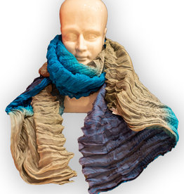 Colorful Silk Crinkle Scarves
