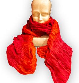 Colorful Silk Crinkle Scarves