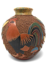 Hand Crafted Nicaraguan Rooster Vase