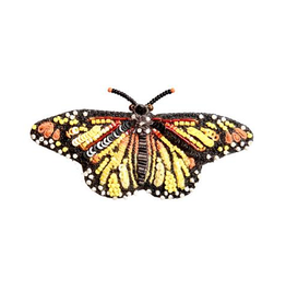 Meandering Monarch Butterfly Brooch