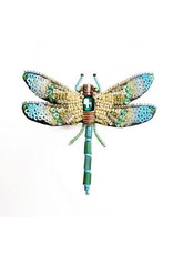 Aqua Dragonfly Brooch Pin