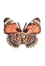 Claudina Orange Butterfly Brooch Pin