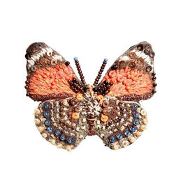 Claudina Orange Butterfly Brooch