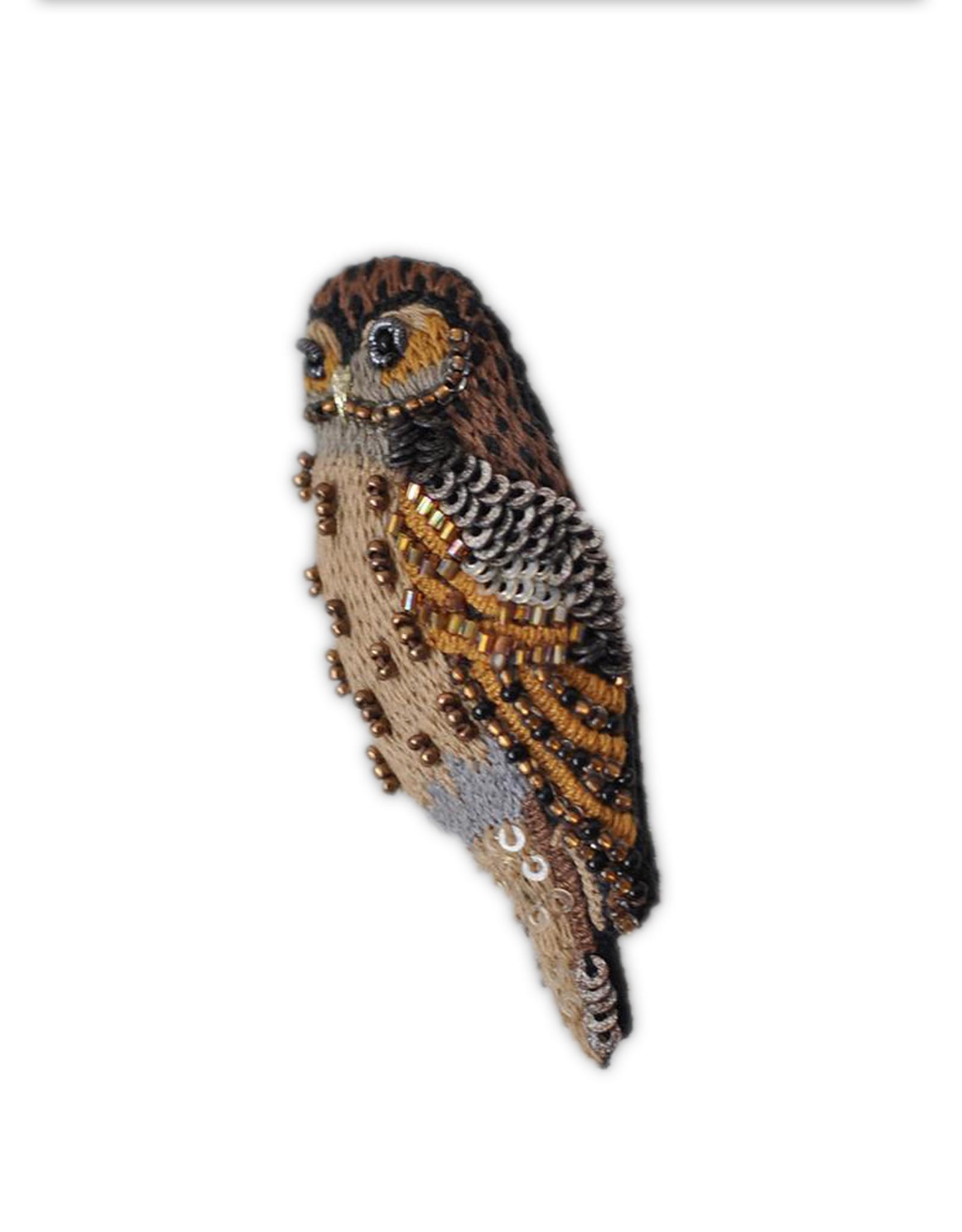 Barred Owl Brooch