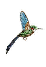 Tropical Hummingbird Brooch Pin