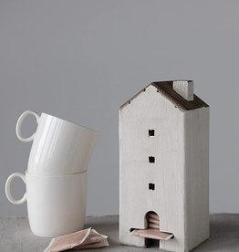 Reclaimed Wood House Tea Bag Caddy