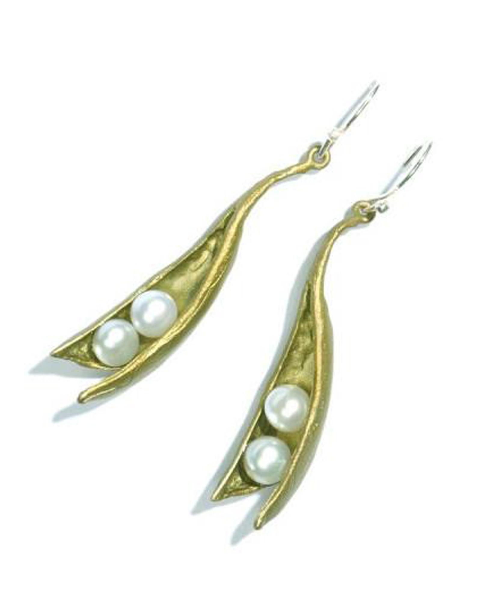 Two Pearl Peapod Earrings