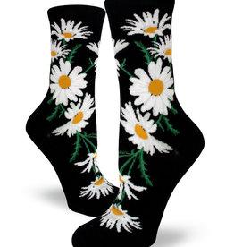 Crazy For Daisies Black Socks