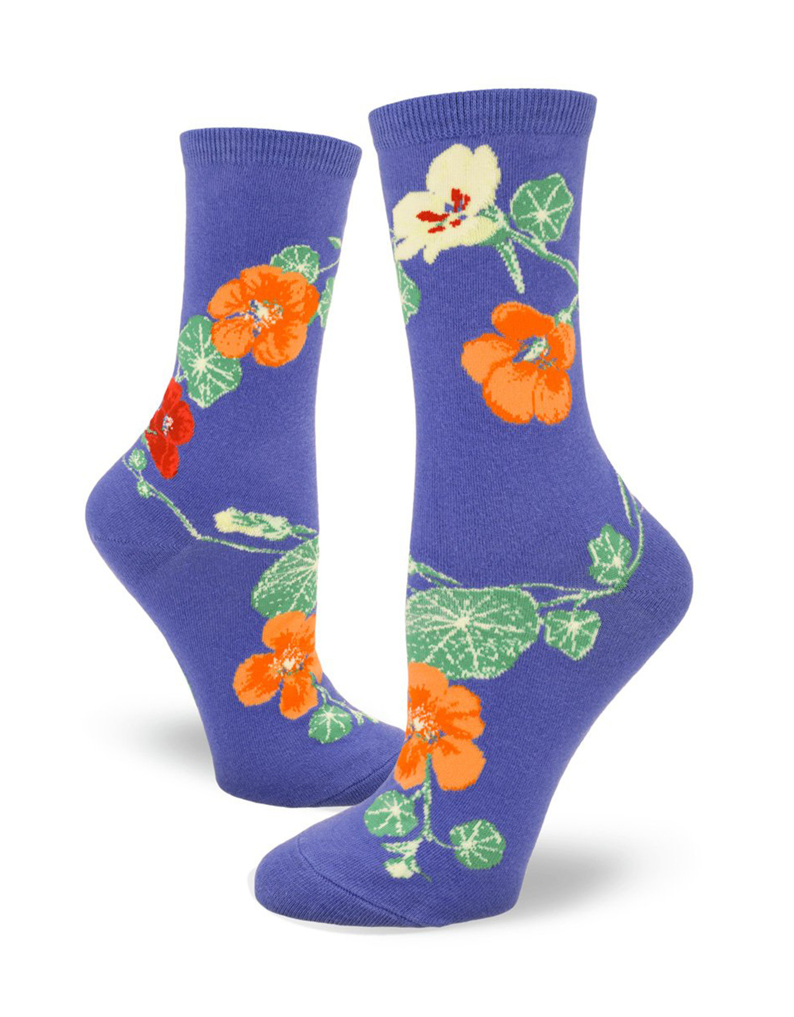 Socks Nasturtiums Periwinkle