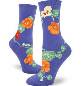 Nasturtiums Periwinkle Socks
