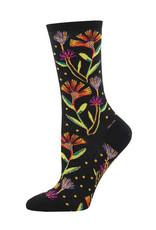 Socks Wildflowers Black