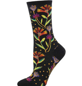 Socks Wildflowers Black